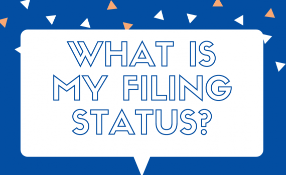 """Quotation bubble which says """"What is my Filing Status?"""" inside"""