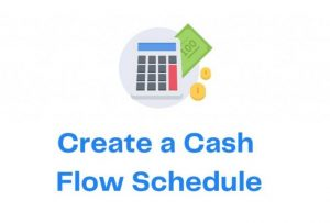 Create a Cash Flow Schedule with Icon