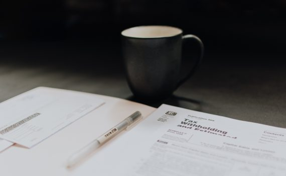 tax review and coffee