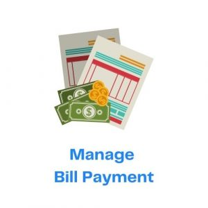 Manage Bill Payment with Icon